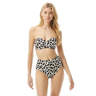 Kate Spade Molded Cup Bandeau Bikini Top - Fiji Feline