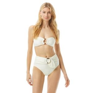 Kate Spade Ring Bandeau Bikini Top - Textured Solids