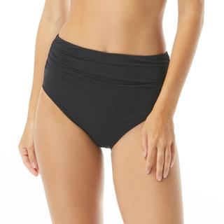 Carmen Marc Valvo Ruched Back Seam High Waist Bikini Bottom - Saint Tropez