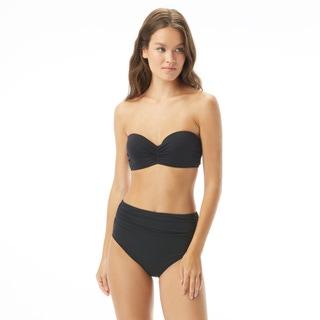 Carmen Marc Valvo Ruched Bandeau Underwire Bikini Top - Saint Tropez