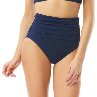 Carmen Marc Valvo High Waist Mesh Overlay Bikini Bottom - Marche de Solids