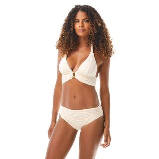 Carmen Marc Valvo Ruched Halter Bikini Top - Sunlit Seas