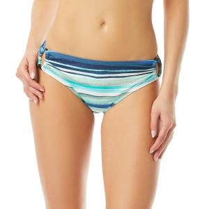 Carmen Marc Valvo Mid Rise Bikini Bottom - Palermo Waters