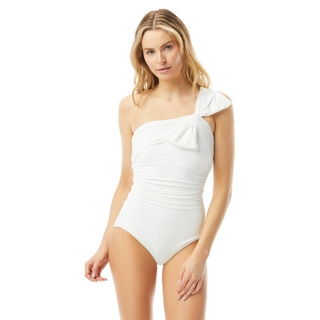 Carmen Marc Valvo Ruched One Shoulder One Piece Swimsuit - Bowline Soiree