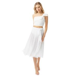 Carmen Marc Valvo Mesh Swing Cover Up Skirt - Bowline Soiree