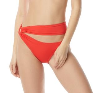 Carmen Marc Valvo Side Shirred Cut Out Bikini Bottom - Tropical Coast