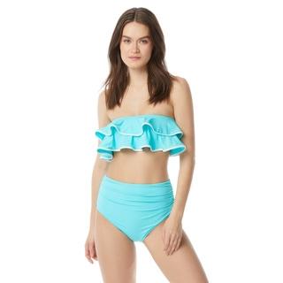 Carmen Marc Valvo Ruffle Bandeau Bikini Top - Ocean Waves