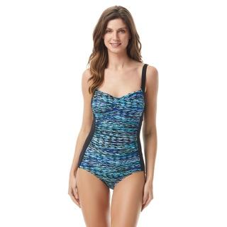 Gabar Twist Bra One Piece Swimsuit - Sharp Stripe