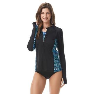 Gabar Long Sleeve Swim Shirt - Sharp Stripe