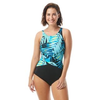 Gabar High Neck One Piece Swimsuit - Poolside Palm
