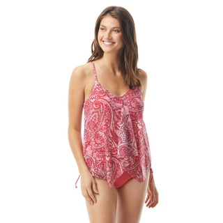 Beach House Kerry Mesh Layer Underwire Tankini Top - Rise and Sunshine