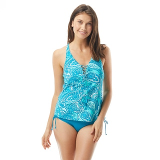 Beach House Courtney Lace Up Tankini Top - Rise and Sunshine