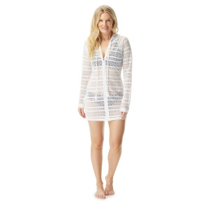 Beach House Indra Lace Hooded Zip-Up Cover Up Jacket - Lace Up and Go