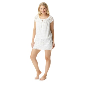 Beach House Lindsay Lined Crochet Cover Up Dress - Lace Up and Go