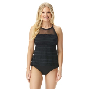 Beach House Exhilarate Racerback Tankini Top - Lace Up and Go