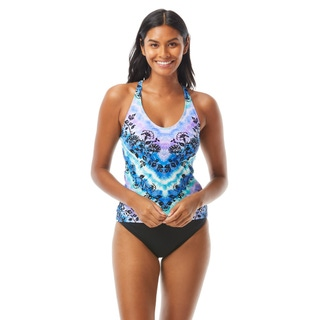 Beach House Sport Ambition Slim Fit Cross Back Tankini Top - Tie Dye For