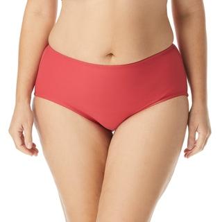 Beach House Plus Size Chloe High Waisted Bikini Bottom - Beach Solids