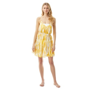 MICHAEL Michael Kors Belted Cover Up Dress - Tie Dye Daydream