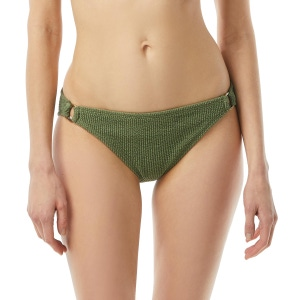 MICHAEL Michael Kors Logo Ring Bikini Bottom - Decadent Texture
