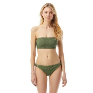MICHAEL Michael Kors Bandeau Bikini Top - Decadent Texture