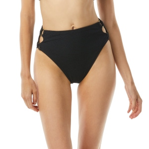 MICHAEL Michael Kors High Leg Bikini Bottom - Solid Texture