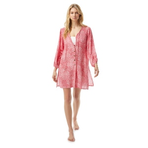 MICHAEL Michael Kors Button Front Cover Up Top - Paisley Appeal