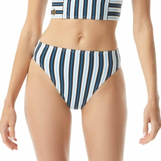 MICHAEL Michael Kors High Waist Bikini Bottom - Marine Stripe