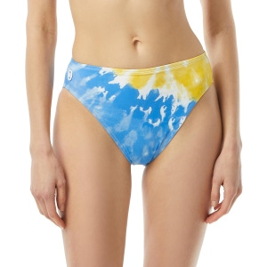 MICHAEL Michael Kors High Leg High Waist Bikini Bottom - Vintage Tie Dye