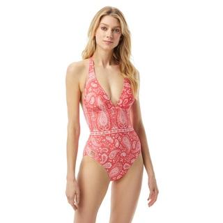 MICHAEL Michael Kors Halter One Piece Swimsuit - Romantic Paisley