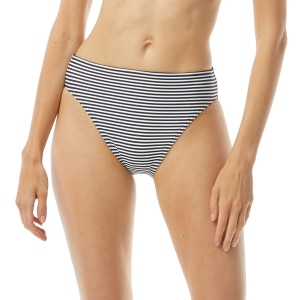 MICHAEL Michael Kors High Waisted Bikini Bottom - Mini Stripe