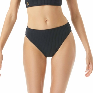 MICHAEL Michael Kors High Waist Bikini Bottom - Ribbed Texture