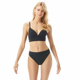 MICHAEL Michael Kors Bralette Bikini Top - Ribbed Texture