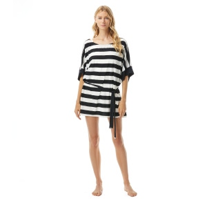 MICHAEL Michael Kors Belted Cover Up - Stripe