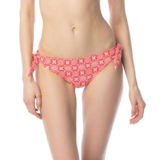 MICHAEL Michael Kors Side Tie Bikini Bottom - Floral Stitch