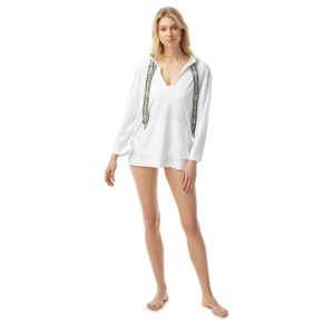 MICHAEL Michael Kors Cover Up Hoodie - Solid Terry