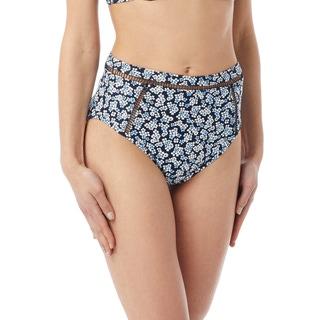 MICHAEL Michael Kors High Waist Bikini Bottom - Mini Cherry Blossoms