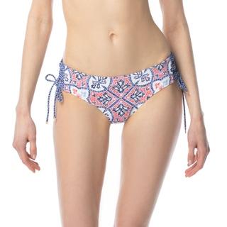 MICHAEL Michael Kors Shirred Side Tie Bikini Bottom - Santorini Sunset