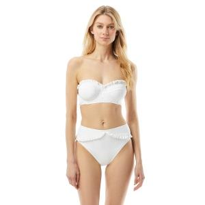 MICHAEL Michael Kors Ruffled Underwire Bandeau Bikini Top - Femme Solids