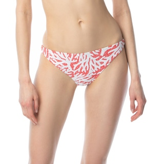 MICHAEL Michael Kors Ring Detail Bikini Bottom - Coral Mosaic