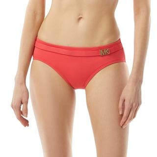 MICHAEL Michael Kors Belted Bikini Bottom - Logo Solids