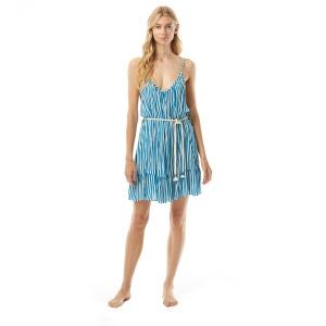 MICHAEL Michael Kors Belted Cover Up Dress - Logo Stripe