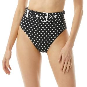 MICHAEL Michael Kors High Waist Bikini Bottom - Dot