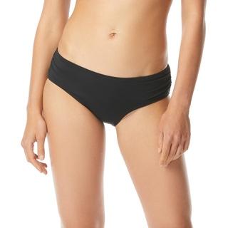 MICHAEL Michael Kors Shirred Bikini Bottom - Iconic Solids