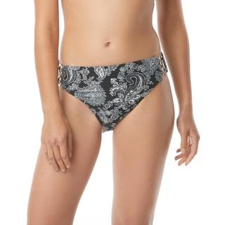 MICHAEL Michael Kors High Waisted Bikini Bottom - Sweetheart Paisley