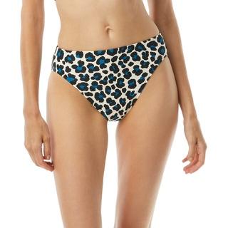 MICHAEL Michael Kors High Leg Bikini Bottom - Small Leopard
