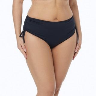 MICHAEL Michael Kors Plus Size Shirred Hipster Bikini Bottom - Essential Solids