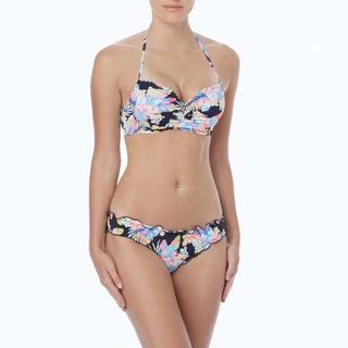 Coco Rave: The Bikini Edit - Nixie Scallop Halter Bra Sized Underwire Bikini Top - La Bamba Tropical