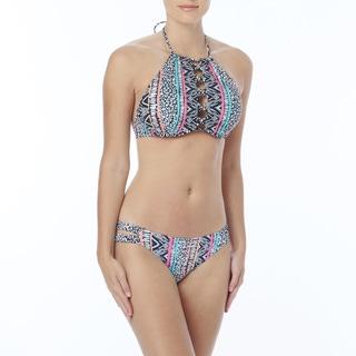 Coco Rave: The Bikini Edit - Gia High Neck Bra Sized Underwire Bikini Top - Into the Jungle