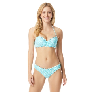 Coco Rave: The Bikini Edit -  Nadia Ruffle Halter Bra Sized Underwire Bikini Top - Blossom