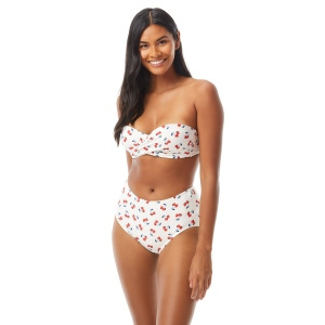 Kate Spade Molded Cup Bandeau Underwire Bikini Top - Cherry Toss